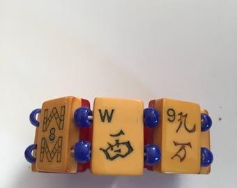 2 tone mah jong bracelet