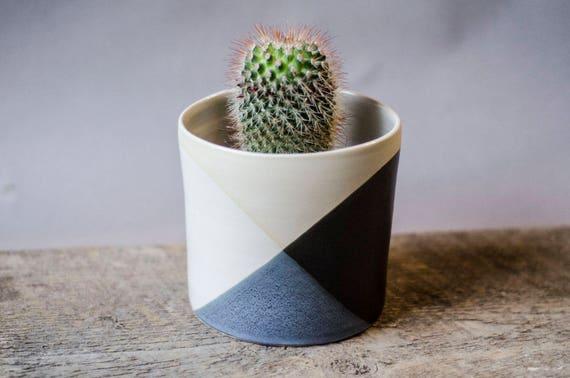 Wonderful Black White Planter, Succulent Planter, Ceramic Planter, Indoor Planter,  Pottery Planter, Garden Gift, Cactus Planter,Modern Planter