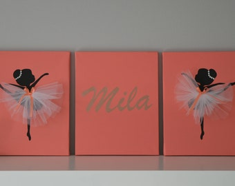 Personalized Ballerina Wall Art