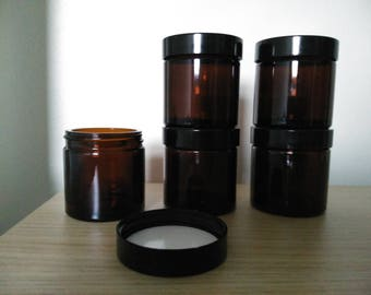 Glass Cosmetic Jar with screw-on lid - 60ml