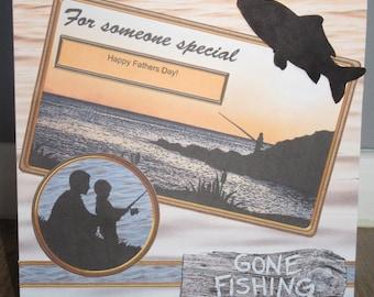 Handmade Gone Fishing Birthday / Fathers day card