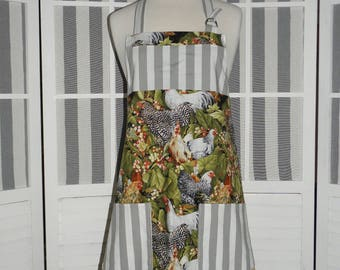 Country Chickens Kitchen Apron - Free or Priority Shipping