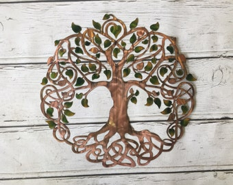 Celtic Tree of Life Metal Sign