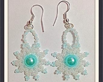 MWL Aqua sun burst earrings