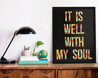 """8""""x10"""" It Is Well With My Soul Print"""