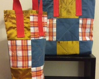 Upcycled, Quilted Totes: Lunch