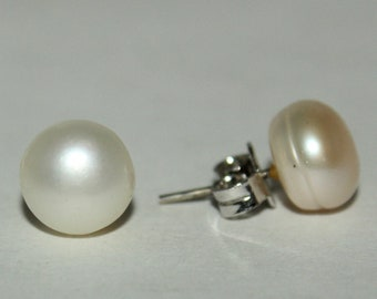 925 Solid Silver Tops Of Sea Water Pearl, 925 Sterling Silver Tops, Fine Silver Fresh Water Pearl Gemstone Tops Gift Mother's Day