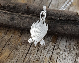 echidna pendant in sterling silver