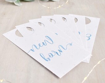 Blue Baby Wardrobe Dividers - New Baby Gift - Baby Shower Gift - Christening Gift -  Watercolour Nursery - Closet Dividers