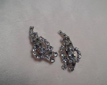 Elegant Rhinestone Earrings-1960's