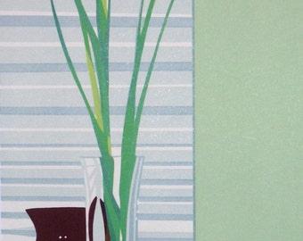 Three Irises, limited edition serigraph