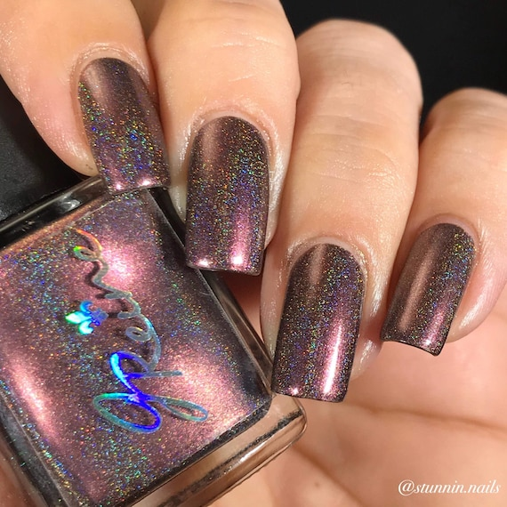 Holographic Nail Polish Etsy - To Bend Light
