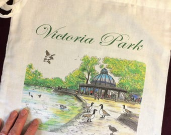 Shoulder Tote Bag Victoria Park by Artist Bernie Wighton