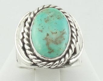 Traditional Southwest Native American Turquoise Sterling Silver Ring  FREE SHIPPING! #TL-SR4