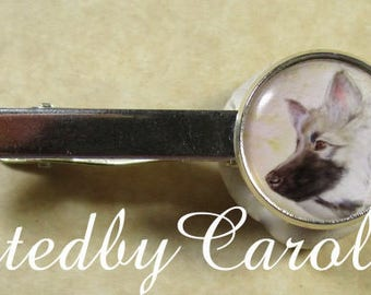 Keeshond Tie Bar, Keeshond Tie Tack, Keeshond Tie Clip, Keeshond Accessories, Keeshond Mens Gifts, Keeshond Dad Gifts, Keeshond Gifts