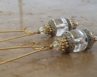 Dainty Chic Crystal Quartz Drop Earrings