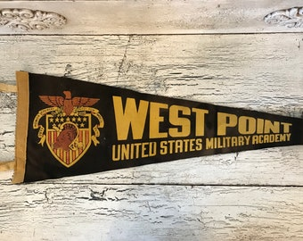Vintage Felt Souvenir Pennant -   West Point