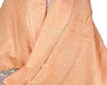 Pashmina wool yak, orange salmon, nepal, ethnic shawl shawl stole scarf shawl stole PLY27