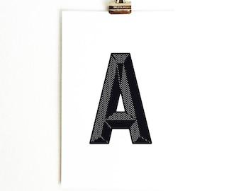 """Marquee """"A"""" Print"""