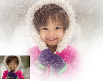 Snow Brushes for photoshop and PSE - Works fast and looks realistic!