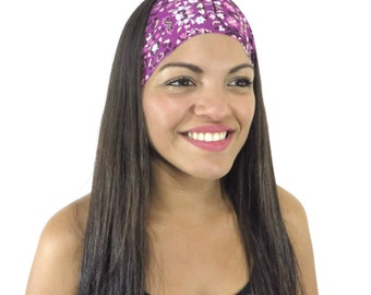 Yoga Headband Running Headband Purple Headband Wide Headband Hair Accessories Fitness Headband Fashion Women Head Wrap Workout Headband S166