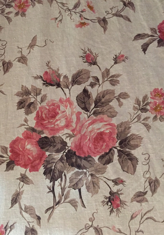 French Country Rose Floral Fabric Upholstery Fabric By The on french country rose art, french country trees, french country cottage gardens, french country flower, french country vegetable gardens,
