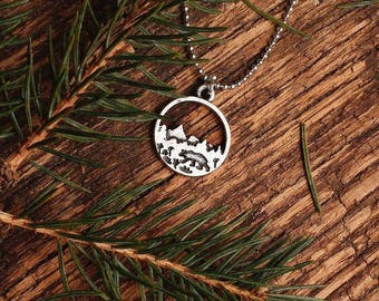 Wilderbear Necklace   Bear Nature Necklace   Nature Necklace   Camping Necklace   Bridesmaid Gift   Hiking Necklace