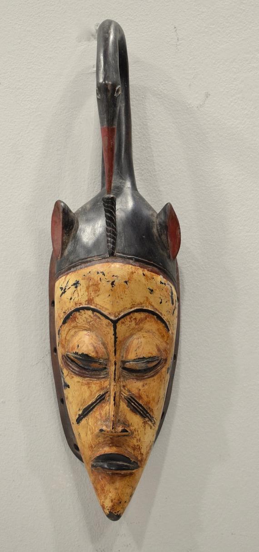 """African Mask Baule Yellow Wood Mask Mask Ivory Coast 21"""""""