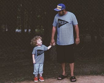 Dad Son Matching Father's Day Shirts, Pizza Slice Shirts, gift from baby, Dad Shirt, New Dad, Pizza TShirs, outfit for husband from child