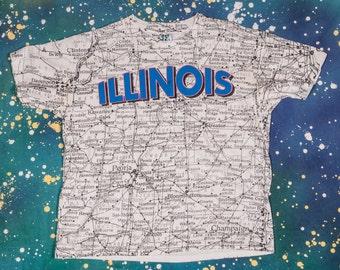 ILLINOIS State T-Shirt Size L