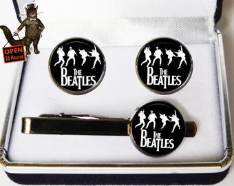 Music Musician Musical cufflinks cufflink tie clip ,dj gift clip cufflinks,rock cufflinks clip,rock band cufflinks,music,vinyl,Men's Jewelry