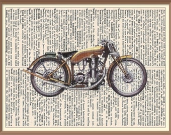 1926 Motosacoche-Vintage Motorcycle--Vintage Dictionary Art Print---Fits 8x10 Mat or Frame