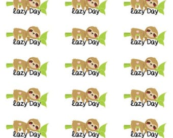 Lazy Day | Sloth | 2039 | Planner Sticker | Kikki-K | Happy Planner | Erin Condren