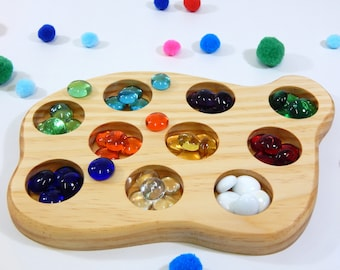 Colour Sorting Boards, wooden sorting game, montessori toy, waldorf steiner, educational toy, early learning toy, matching game, match-up