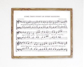 Come Thou Fount Hand-Drawn Hymn
