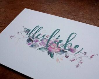 Postcard    All love