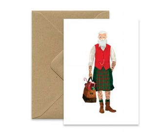 Card A6 - SANTA IS A HIPSTER