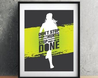RUN Inspirational quote,housewarming gift,quote poster,inspiration,home poster,art,quote print,inspirational poster, motivation poster