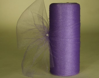 Glimmer Tulle Spool Roll Fabric Net, 6-inch, 25-yard