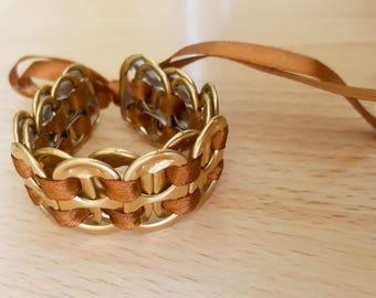 Recycled soda tab bracelet