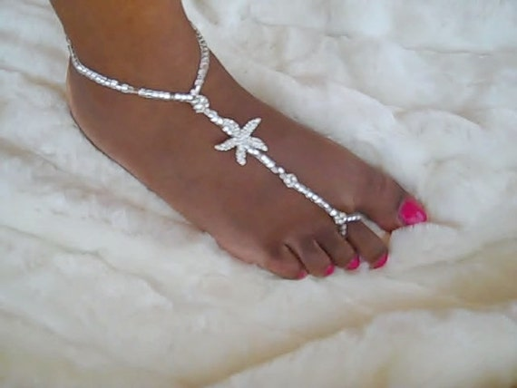 Make your Own Tutorial and Kit Beach Wedding Barefoot Sandal