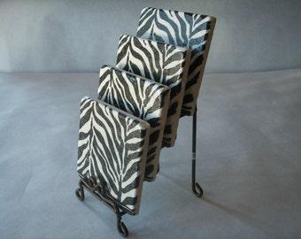 Zebra Print Coasters