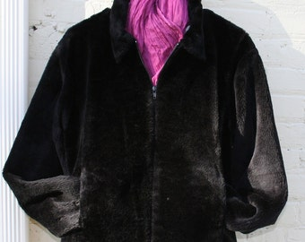 Vintage faux fur car coat Size M