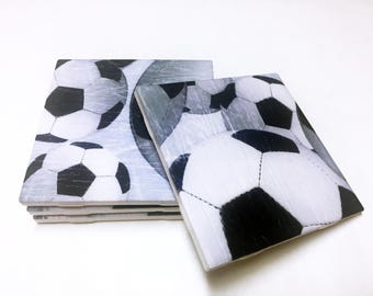 Soccer Coasters - Soccer Decor - Soccer Decorations - Drink Coasters - Tile Coasters - Ceramic Coasters - Table Coasters On Sale