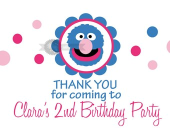 Girlie Grover Birthday Party Printables