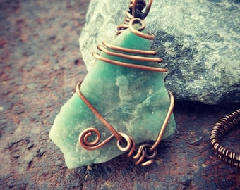 Amazonite with copper