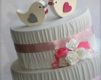 Love Birds Wedding Cake Topper Rustic Wedding Woodland Wedding Bird