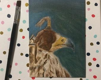 Bird of Prey, Acrylic, 5' x 7'