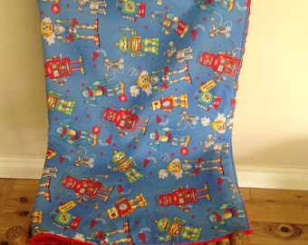 Super Cute Robot Blanket - Ready to Ship Now!