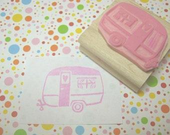 Trailer Stamp - Little Caravan of Love Rubber Stamp - Caravan Gift - Gift for Caravan Lover - Glamping - Camping - Camper